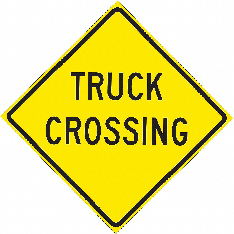 18 x 24 Brady 115601 Traffic Sign Black//Yellow Engineer Grade Aluminum