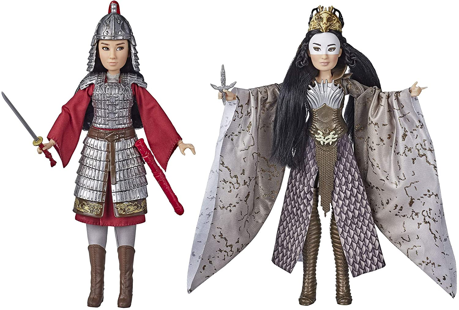 Amazon Com Disney Mulan And Xianniang Dolls With Helmet Armor And Sword Inspired By Disney S Mulan Movie Toy For Kids And Collectors Toys Games