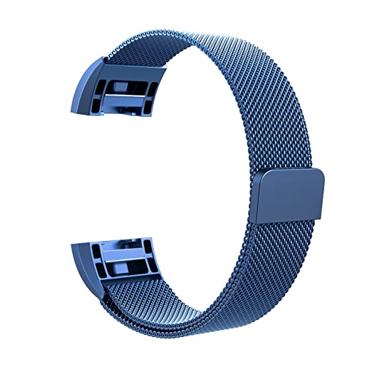 61 opinioni per Fitbit Charge 2 Cinturino, Swees chiusura magnetica Milanese Loop in acciaio