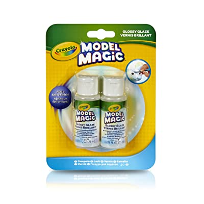 Crayola Model Magic Glossy Glaze, Craft Supplies, Double Pack: Toys & Games