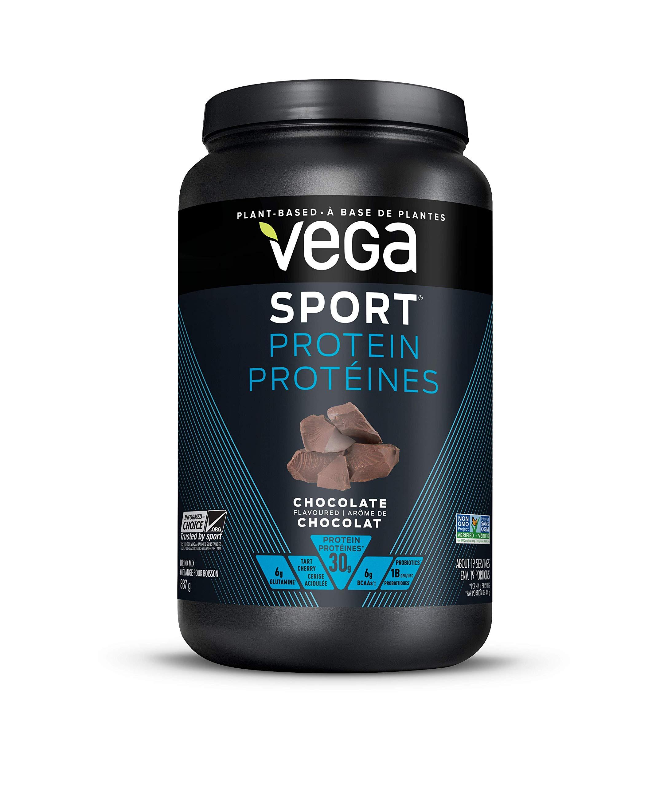 VEGA Sport Protein Chocolate Tub, 837 GR by Vega