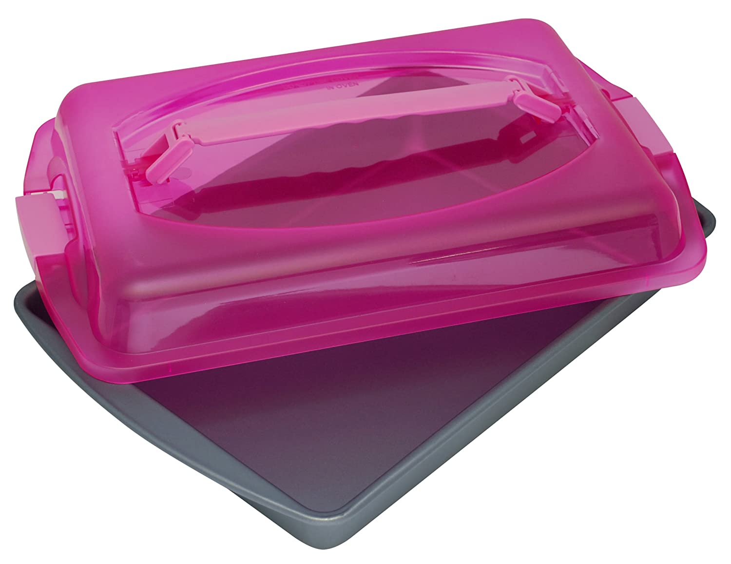 OvenStuff Non-Stick Cake Pan with Cover and Handles, Small HGC18UH-KMN