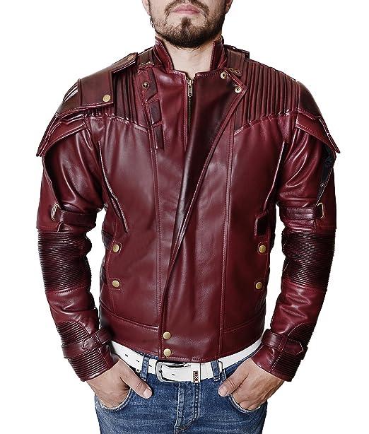 22d17fcec Mens Deadpool Star Lord Motorcycle Style Biker Jacket Costume