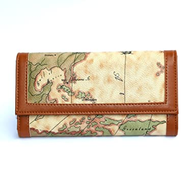 blackgoose womens trifold map printed wallet