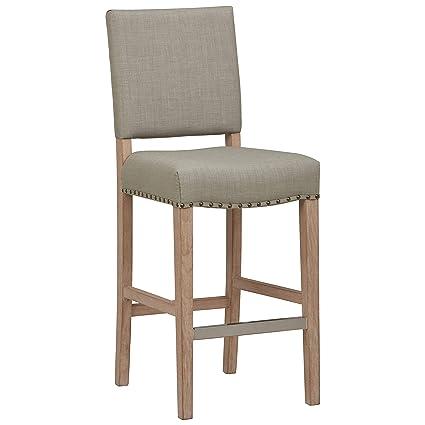 Sensational Stone Beam Leon Kitchen Counter Bar Stool 42 Inch Height Dove Grey Machost Co Dining Chair Design Ideas Machostcouk