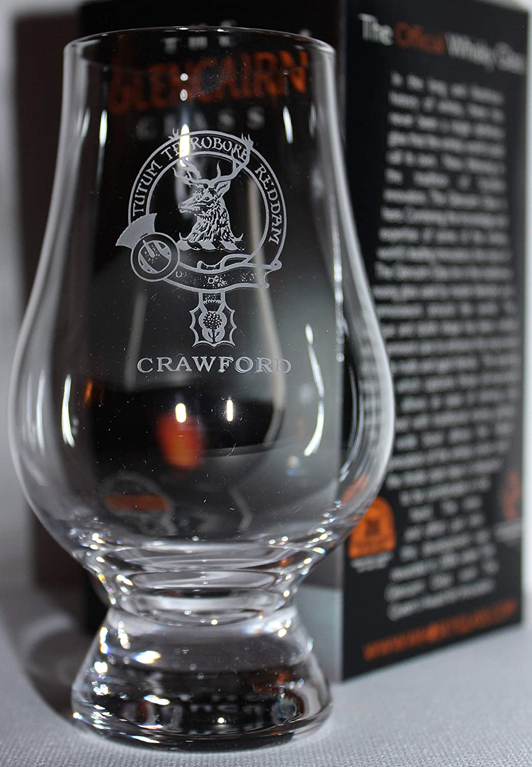 CLAN CRAWFORD GLENCAIRN SINGLE MALT SCOTCH WHISKY TASTING GLASS
