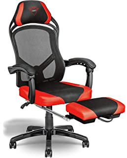 Tremendous Trust Gaming 22785 Chair Black Amazon Co Uk Computers Theyellowbook Wood Chair Design Ideas Theyellowbookinfo