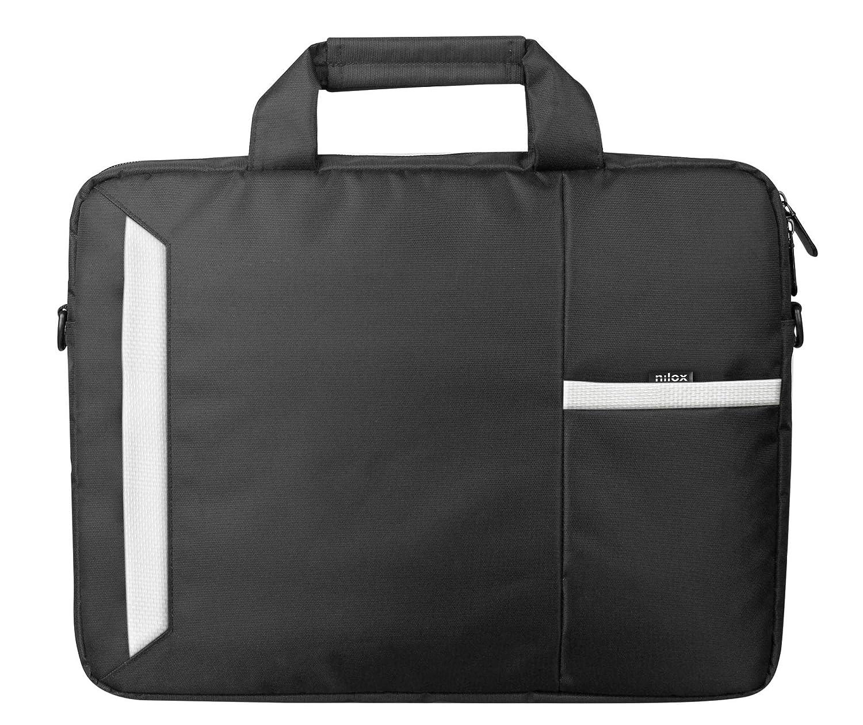 Nilox 2018 Briefcase 39 cm Black//White