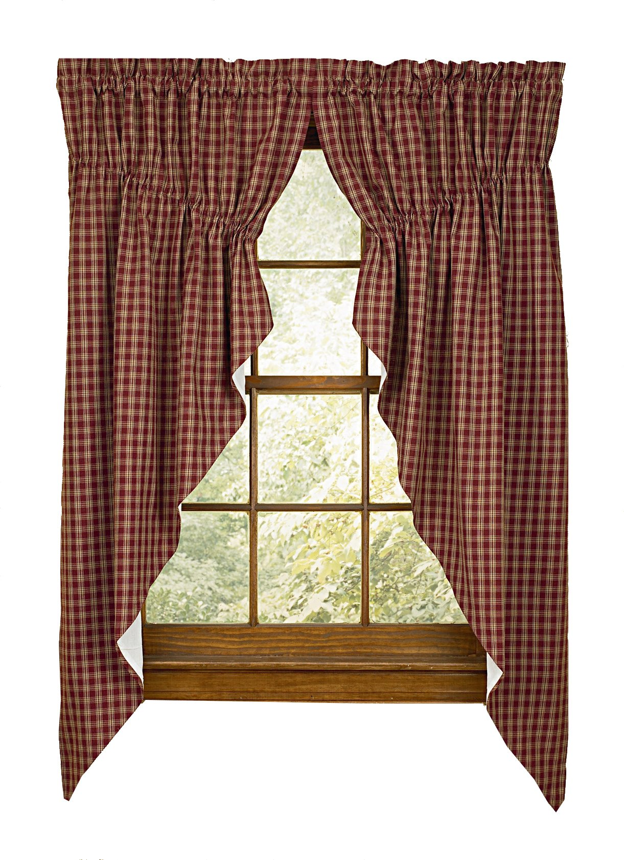 Sturbridge Park Designs 72''x 63'' Wine Prairie Curtains by Park Designs