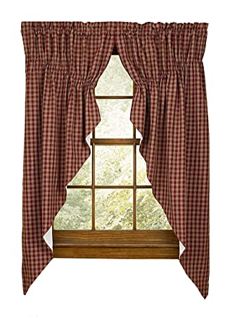 Amazon Sturbridge Park Designs 72x 63 Wine Prairie Curtains Home Kitchen