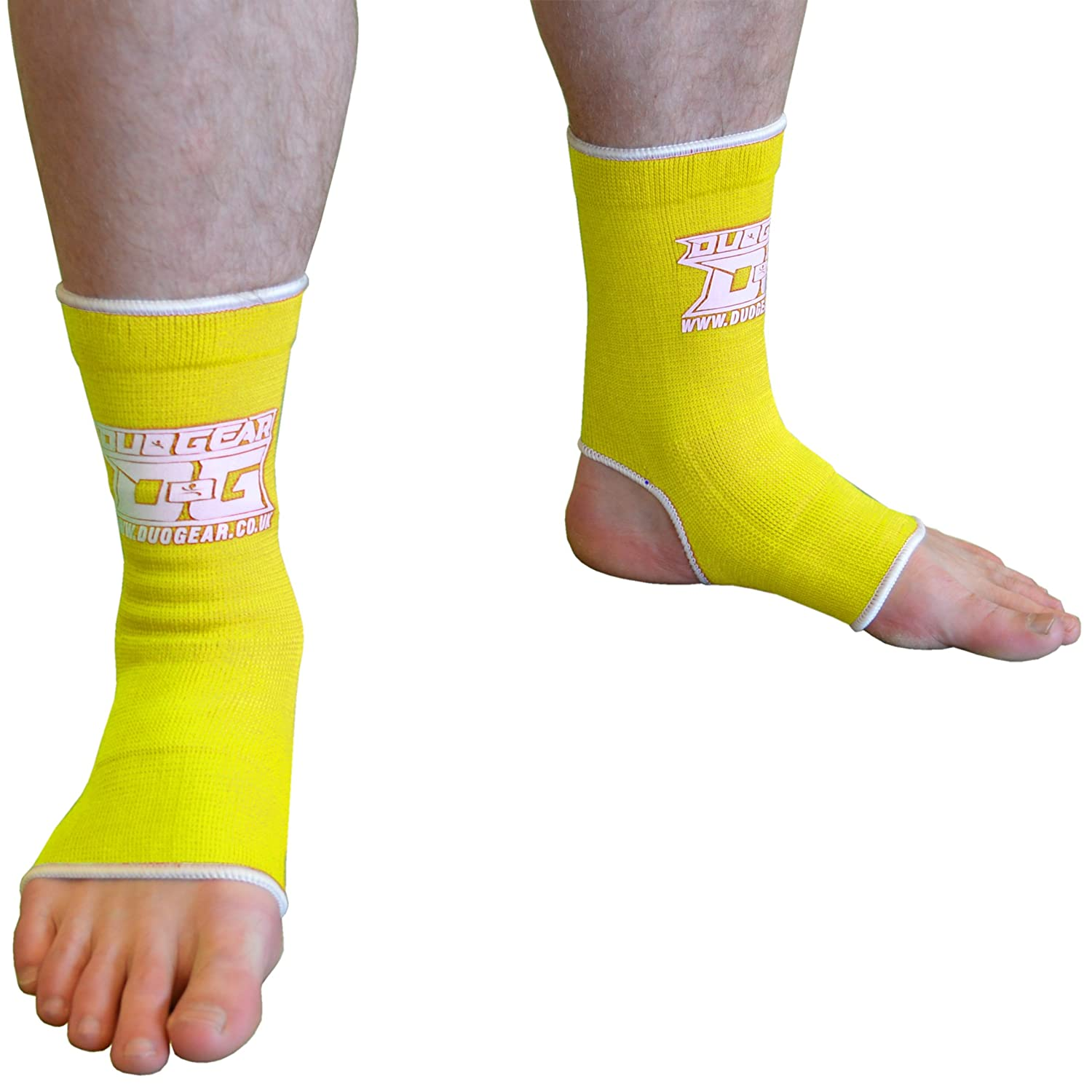 L BLUE DUO MUAY THAI KICKBOXING MARTIAL ARTS MMA SPORTS ANKLE SUPPORT ANKLETS Kids /– Adult