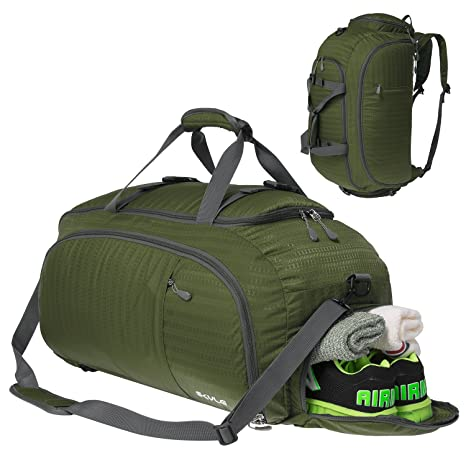 Amazon.com  3-Way Travel Duffel Bag Backpack Travel Luggage Gym ... 3a1a04968d0