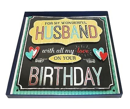 Marido feliz cumpleaños 3d en caja tarjeta de gran lujo ...