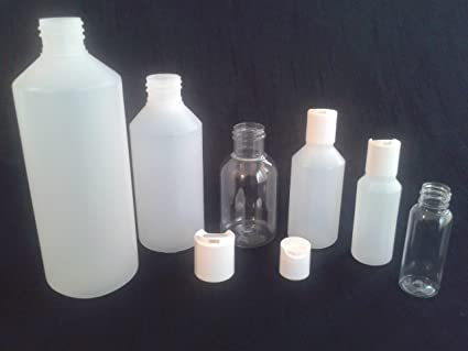 250 ml x 20 vacío botellas de plástico tapa enroscable (medicina/ manualidades/cosméticos