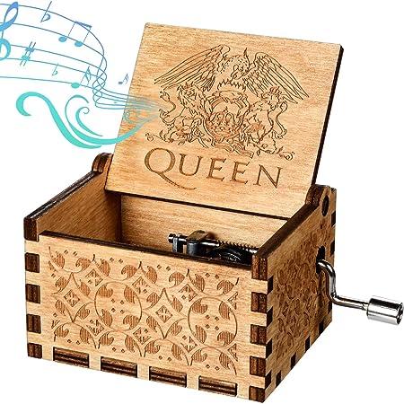 Funmo Caja de música de Madera, Queen Pure Hand-Classical Caja de ...