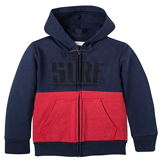 OFFCORSS Big Boys Full Zip Up Hoodie Kid Sweater Sudaderas para Niños Blue 4