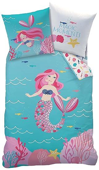 Mermaid Meerjungfrau Mädchen Bettwäsche Kinderbettwäsche Ocean