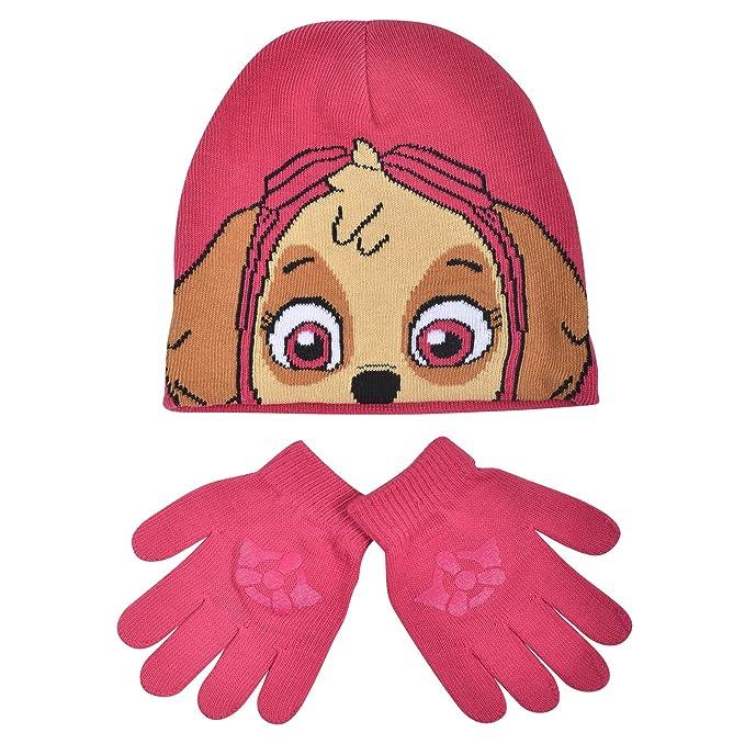 Gorro y guantes para niñas, de Skye de la Patrulla Canina, de ganchillo: Amazon.es: Ropa y accesorios