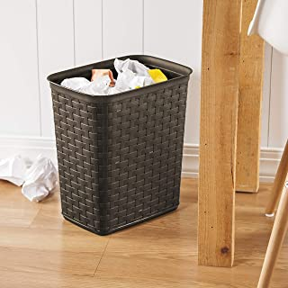 product image for Sterilite 10346P06 3.4 Gallon/13 Liter Weave Wastebasket, Espresso, 6-Pack