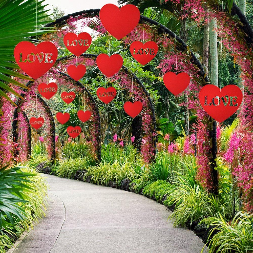 Kuuqa 28 Pieces Valentine S Lawn Decorations Valentine S Day