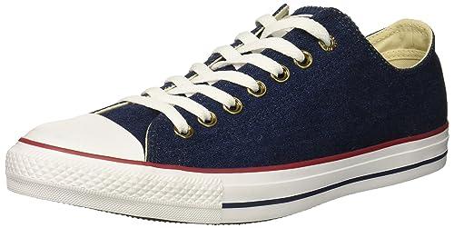 1a2ab0389577 Converse Women s Chuck Taylor All Star Denim Low Top Sneaker Dark  Blue Natural Ivory