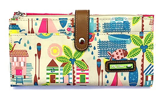 d6d231f937db Lily Bloom Large Travel Wallet - LIZA Wallet (Beach House-Sand) at ...