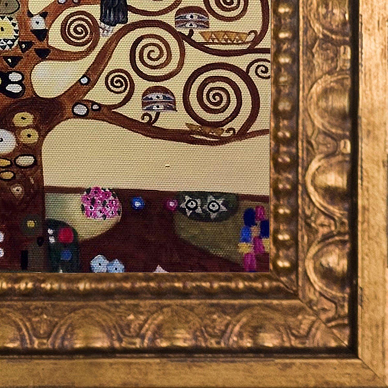 overstockArt Hand Painted Oil on Canvas Tree of Life by Gustav Klimt Framed
