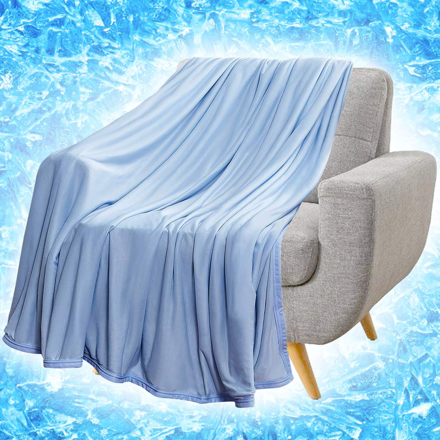 "RHF Cooling Blanket, Cooling Blankets, Cooling Blankets for Sleeping, Cooling Blanket for Bed, Summer Blanket, Cool Blanket, Lightweight Blanket, Cooling Blankets for Night Sweats(71"" × 79"")"