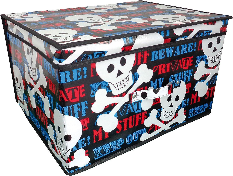Caja de almacenaje eposgear de 50 x 30 x 40 cm pecho baúl - pirata/escombrera: Amazon.es: Hogar