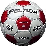 molten(モルテン) サッカーボール ペレーダ4000   4号 白×赤 F4P4000-WR