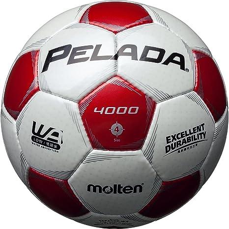 MOLTEN balón de fútbol Pereda 4000 Nº 4 Blanco x Rojo f4p4000-wr ...