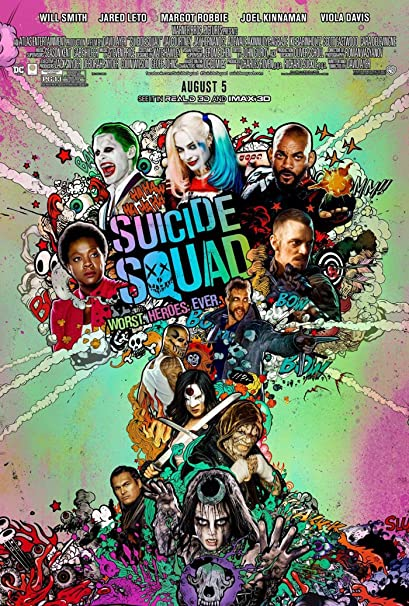 Suicide Squad Poster Movie 2016 10 Stars on 1 Poster CHOOSE YOUR SIZE FREE P+P