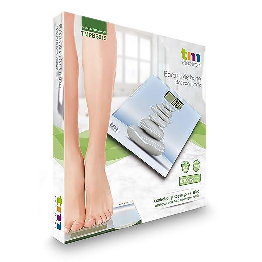 TM Electron TMPBS015 Báscula de Baño Zen de Cristal, Color Azul - 161 gr: Amazon.es: Salud y cuidado personal