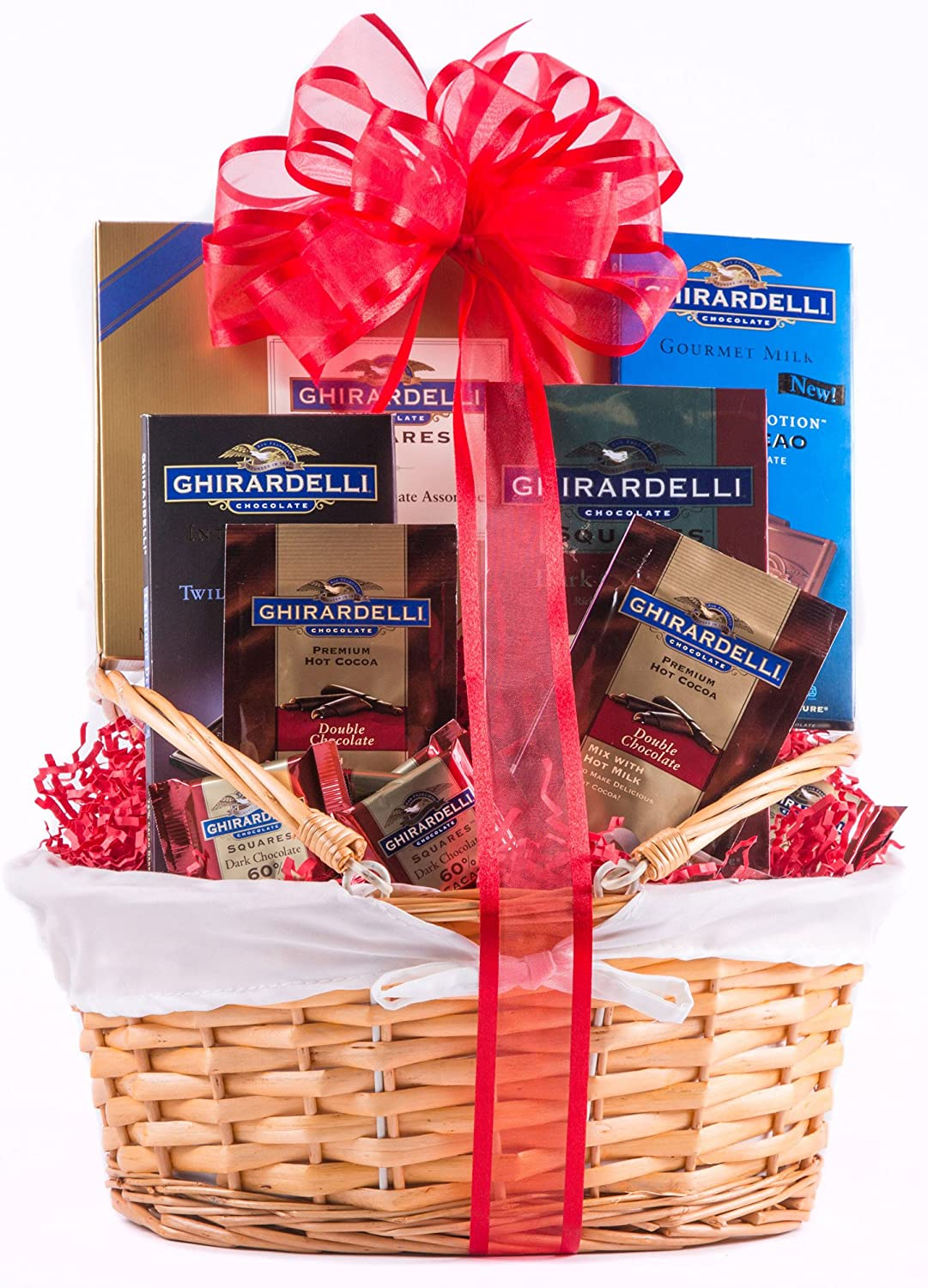 Amazon.com : Grand Ghirardelli Chocolate Gift Basket : Gourmet ...