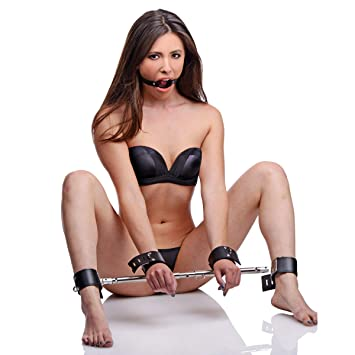 Tied up a ring gag holding his mouth open