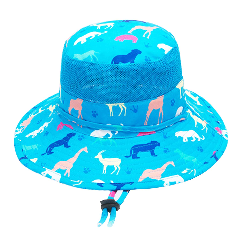 UPF Tesa Larga Cappello da Sole per Bambini 100/% Cotone Interno Bucket Hat con Sottogola 2-12 Anni RUXIYI Cappello da Sole per Bambini Cappello da Spiaggia 50