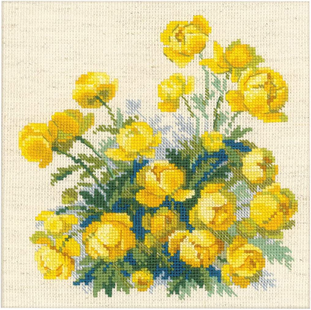 NEW UNOPENED Counted Cross Stitch KIT Riolis 1669 Windowsill with Flowers