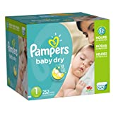 Amazon Price History for:Pampers Baby Dry Newborn Diapers Size 1, 252 Count