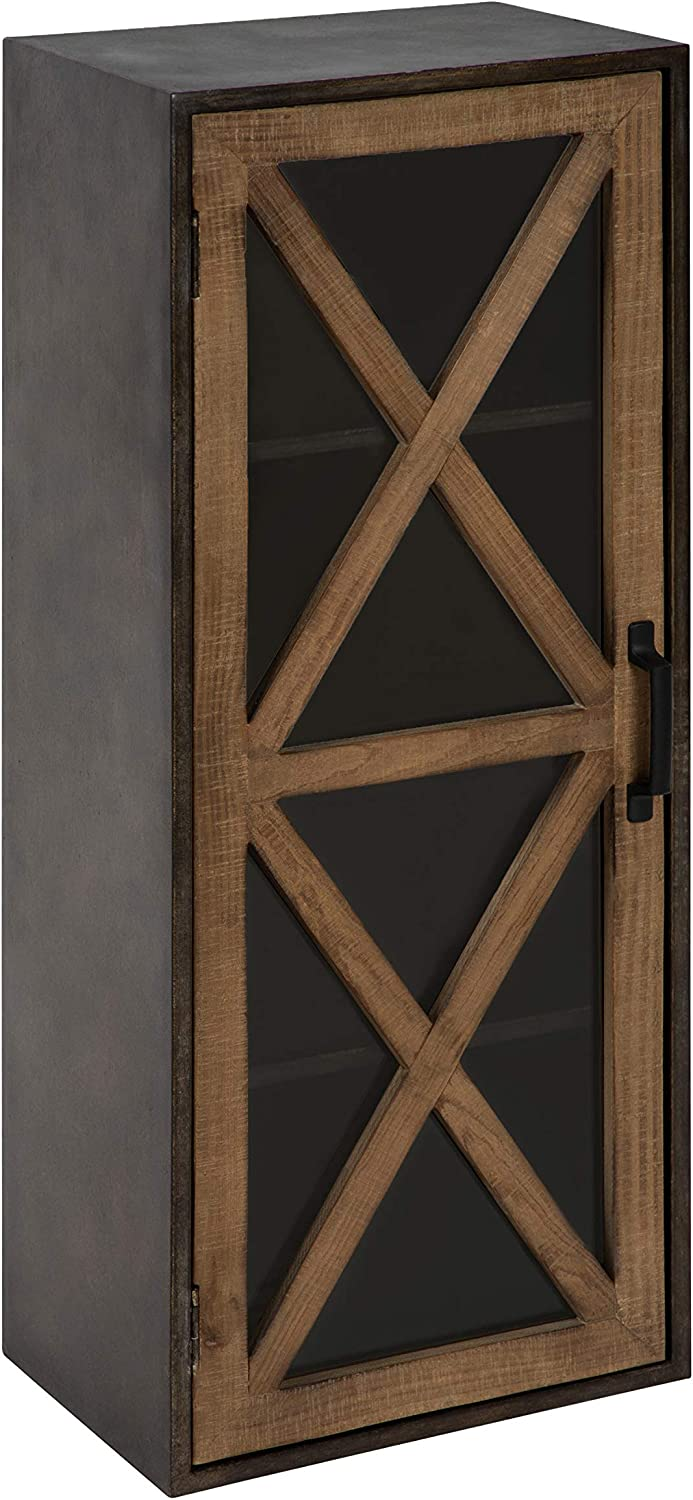 Kate and Laurel Mace Decorative Rustic Floating Storage Cabinet, 30