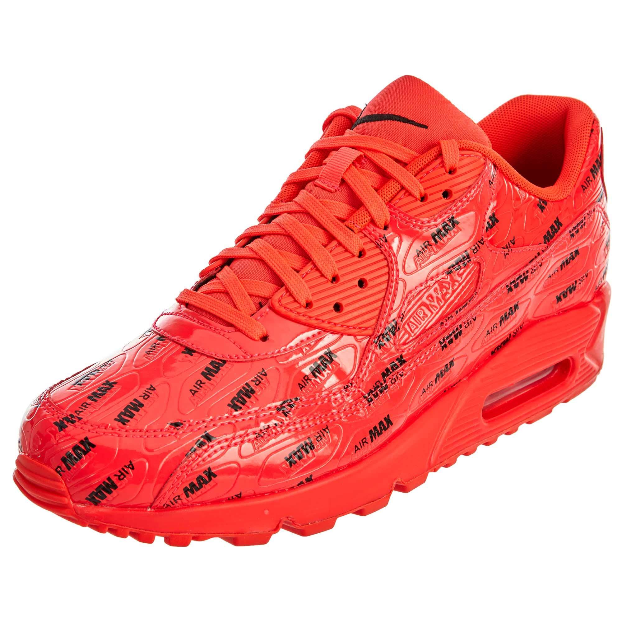 super popular 3b41b 769a5 NIKE Men's Air Max 90 Premium Bright Crimson/Bright Crimson Running Shoe 8  Men US