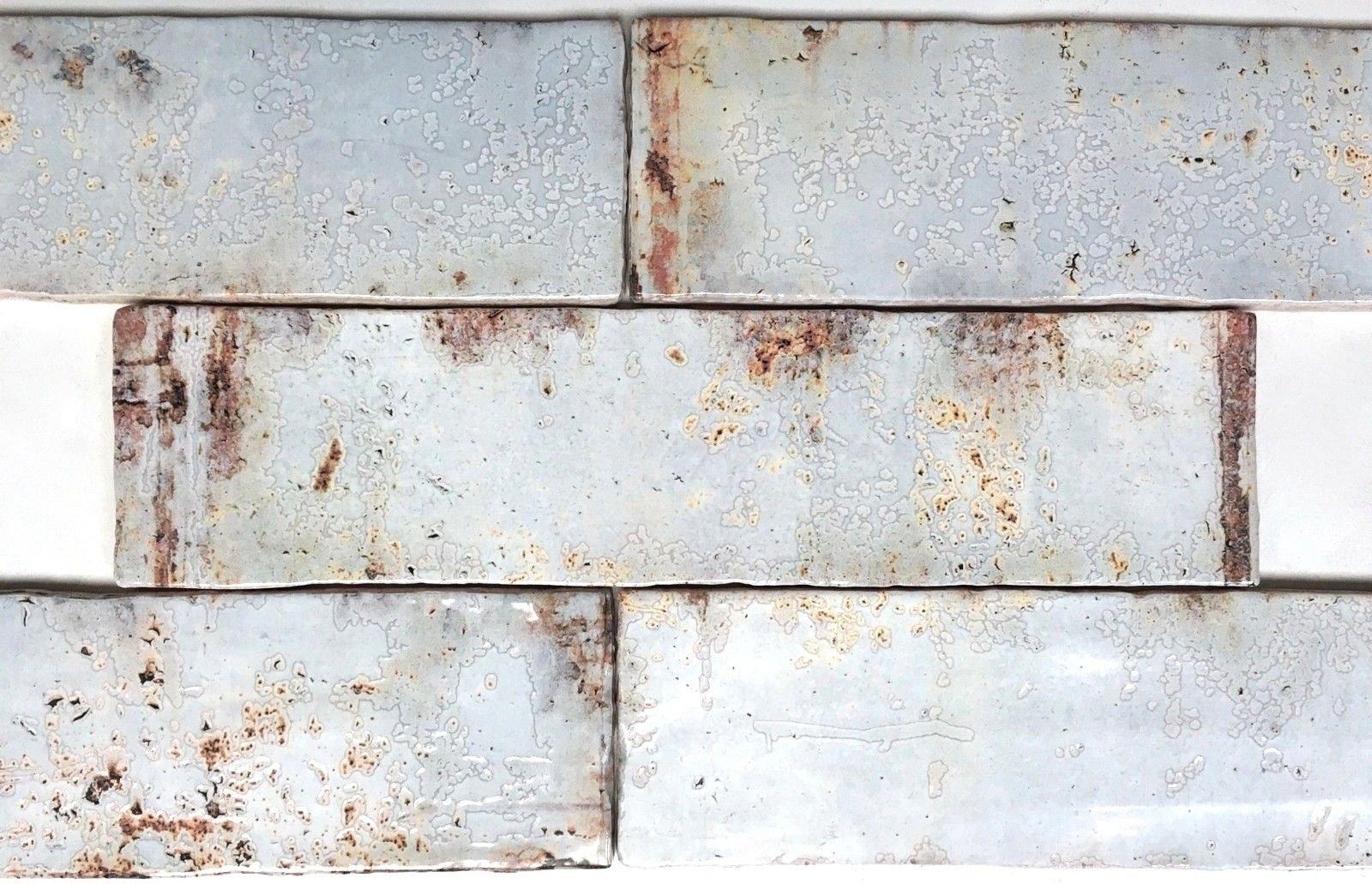 3x12 Palermo Collection Aires Glazed Ceramic Tile Backsplash Decor Wall Bath (1sf, 4pcs) by Squarefeet Depot