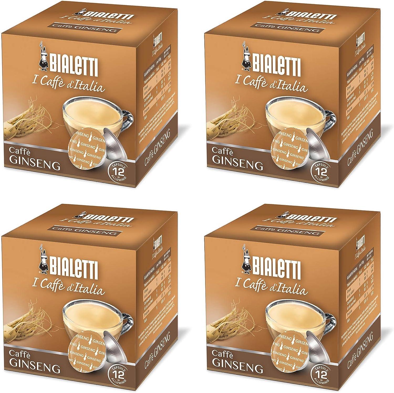 12/C/ápsulas aluminio Bialetti mokespresso I Caffe d Italia Caffe Ginseng