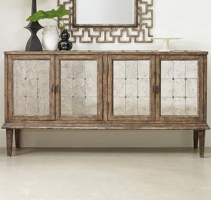Amazon Com Hooker Furniture Melange Devera Mirrored Console Table