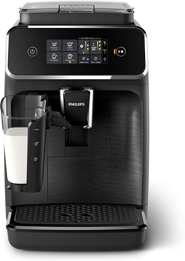 Philips 2200 Series Fully automatic Espresso Machine with LatteGo, EP2230/14, Black