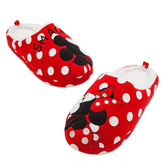 7f0c851f59cf3 Disney Mickey and Minnie Mouse Slippers for Women Red