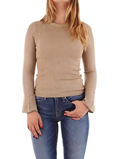 6ea219b62d PATRIZIA PEPE 8M0707 A1QZB Sweatshirt Women Gold II  Amazon.co.uk  Clothing