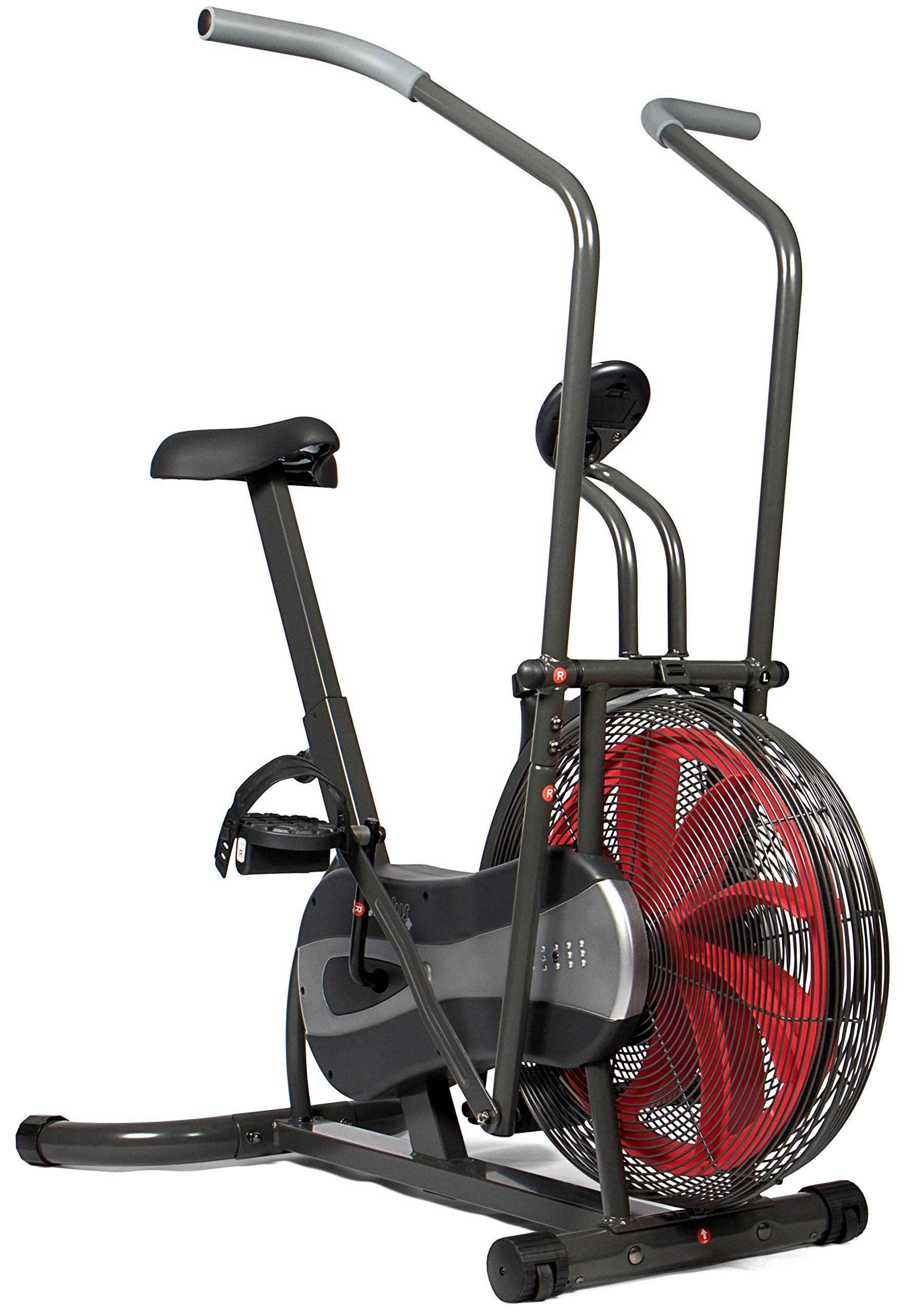 SportPlus Fan Bike – Fan-based and Belt Brake Resistance – Wind Turbine, Full Body Workout – Max. User Weight 100 kg – Safety tested