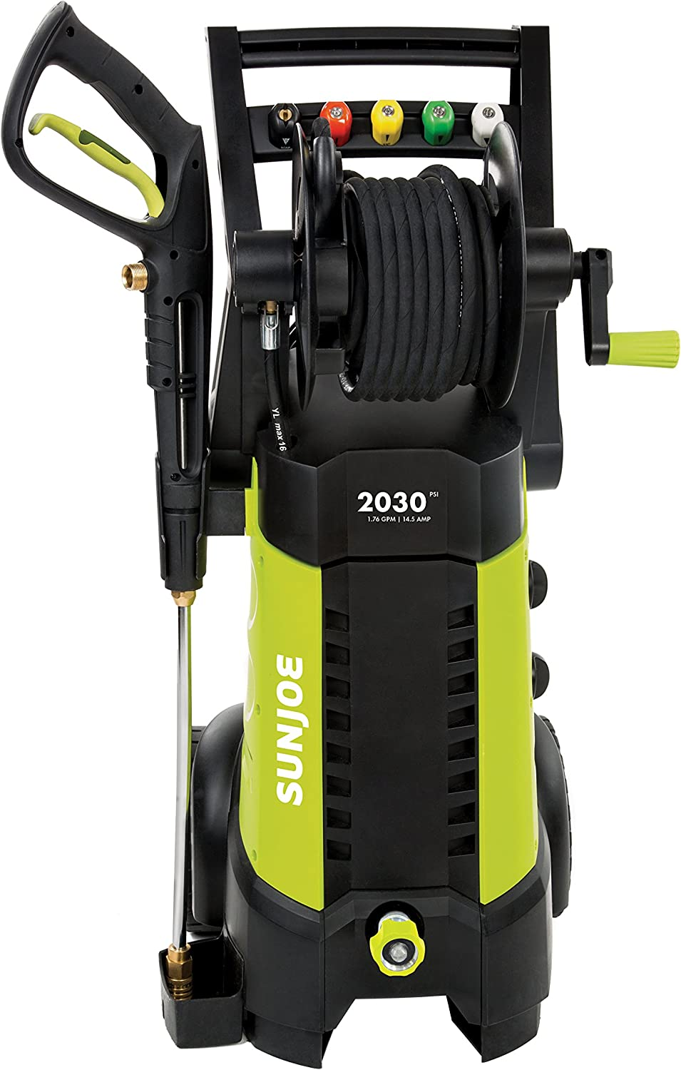 Sun Joe SPX3001 2030 PSI 1.76 GPM 14.5 AMP Electric Pressure Washer with Hose Ree