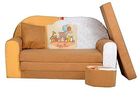 Divano Letto Per Bambino : Fortisline w divano letto per bambino con pouf e cuscino