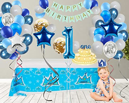 Baby Boy/'s 1st Birthday Party Blue 16 oz Plastic Cup
